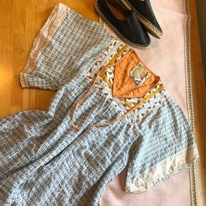 100% cotton quilted billabong tunic